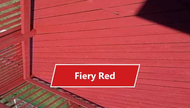Fiery Red Deck Paint Color