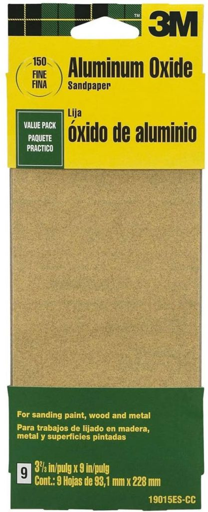 3M 19015ES-CC 9-Inch Fine Grit Aluminum Oxide – Sandpaper for Metal