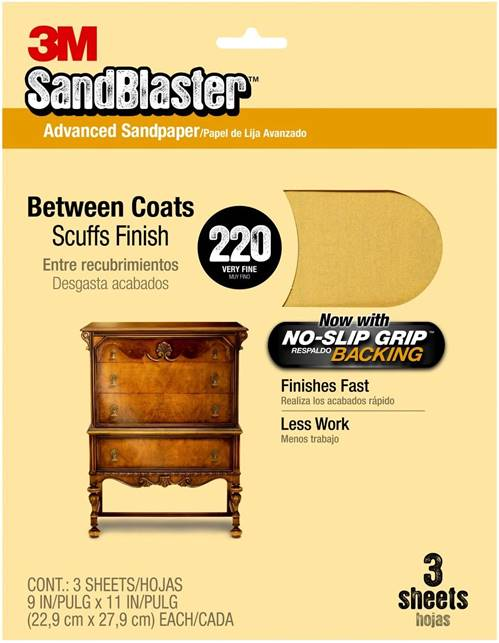 3M 20320 SandBlaster – Top Coats Sandpaper