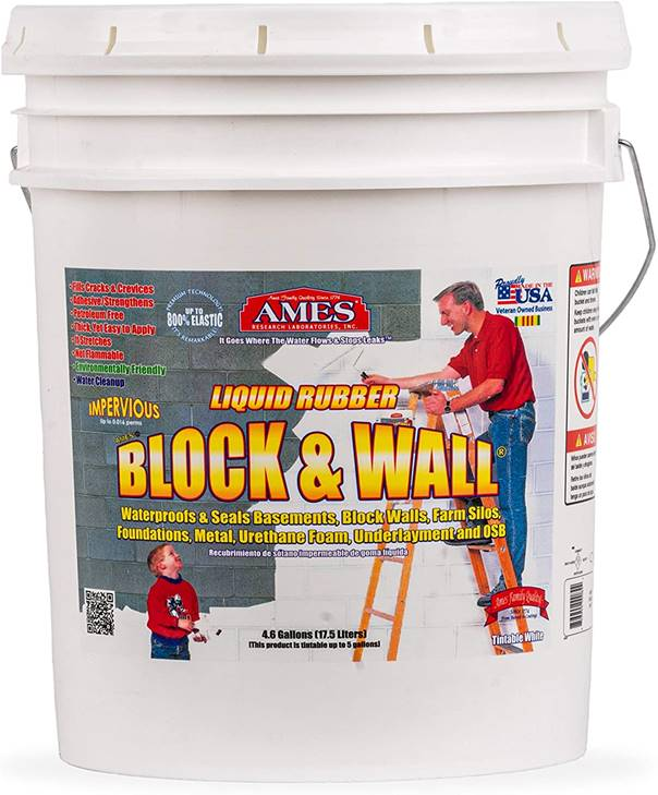 AMES BWRF5 Water Base High Strength Elastomeric Liquid Rubber