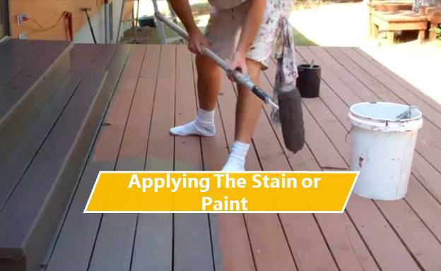 Applying the Stain or Paint