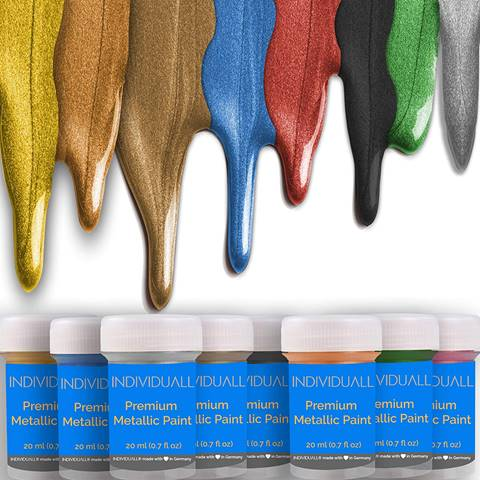 Premium Metallic pinewood derby car Acrylic Paint Set