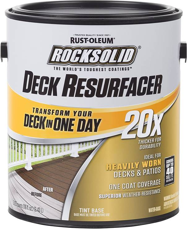 Rust-Oleum 319384 RockSolid 20X Deck Resurfacer