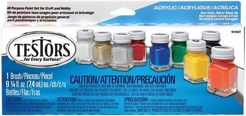 Testors Acrylic Value Finishing Paint Set