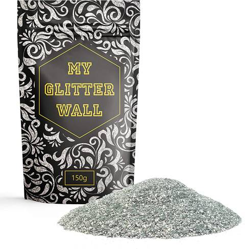 CrystalsRus Indoors and Outdoors Silver Glitter Paint