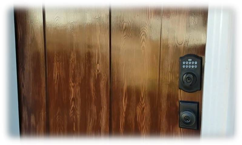 Fiberglass Door Paint That Looks Like Wood